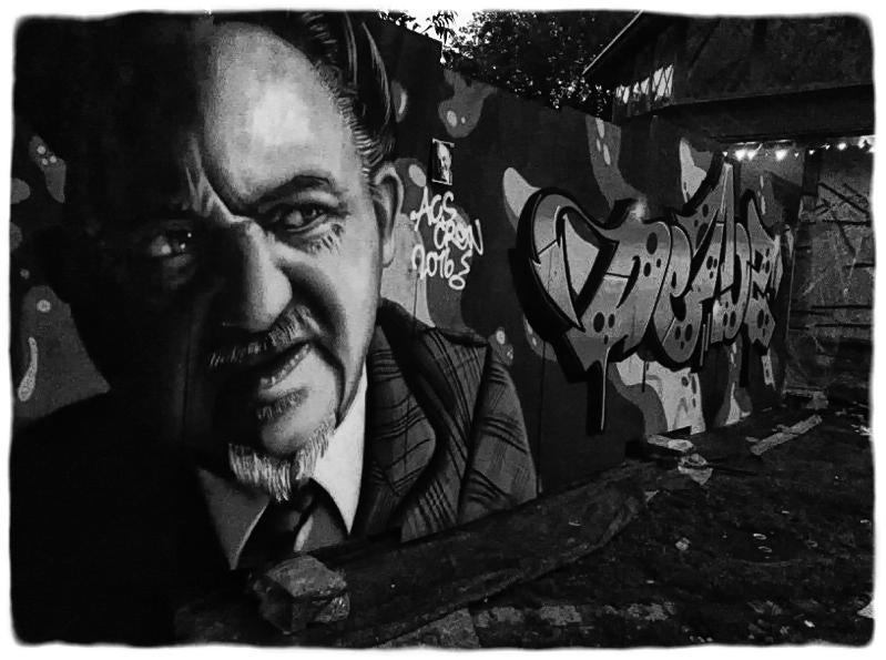 Anker Jørgensen grafiti